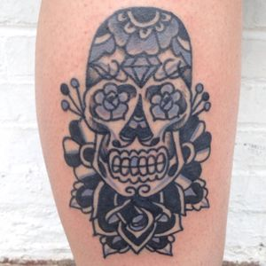 #sugarskull#rose#tattoo
