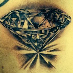 #realism #diamond #diamondtattoo #tattoooftheday #blackandgrey