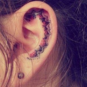 #innerear #ear #dots #red #black #pattern #welove