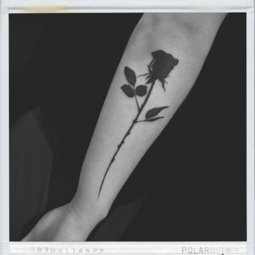 #blackrose #blacktattoo #rose #rosetattoo