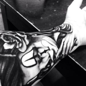 On my Left arm