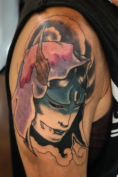 #hannya #japanese #japanesetattoo #irezumi #color #tattoooftheday