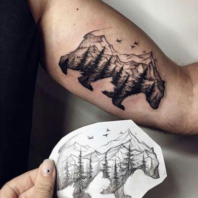 Mountain Bear 👌🏻 #bear #sky #mountain