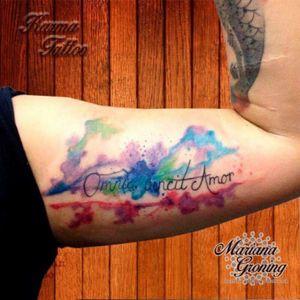 Watercolor tattoo #tattoo #marianagroning #karmatattoo #cdmx #MexicoCity #watercolor #watercolortattoo #watercolortattooartist