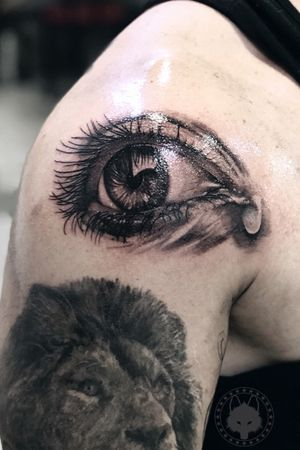 #blackandgrey #blackandgreytattoo #eye #eyetattoo #bw #blackink #brasil #brazil