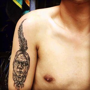 My second tattoo #nativeamerican #Indian #arm_tattoo