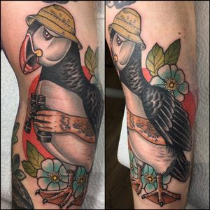Inner arm puffin with arms @taikogallery