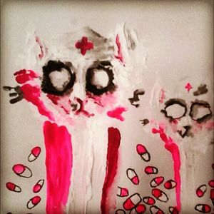 Gettining this done soon #diemannequin #original #painiting #gettingthissoon #pills #horror