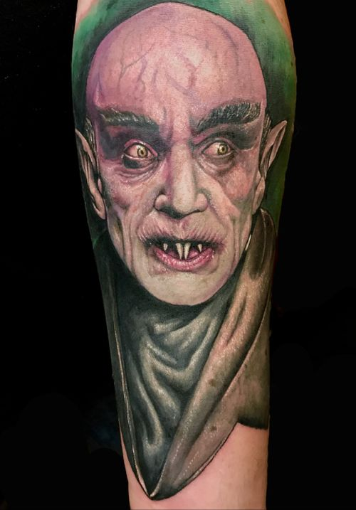 #horror #horrortattoo #realism #portrait #Nosferatu #vampire
