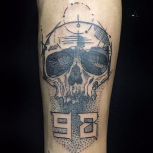 #skull #balckwork #negative #dotwork #tattoo