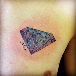 #galaxy #diamondtattoo #diamond