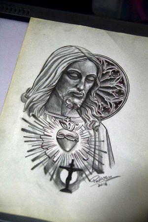 #jesus #tattoosketch #gardenofstone #sketchbook