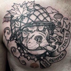 #tattoo #shaunloyer Done by Shaun Loyer @ Distinctive Body Art Studio in San Clemente CA Instagram is @inkedlife1979 or @dba_tattoo #wardog #semperfi #usmc #workinprogress