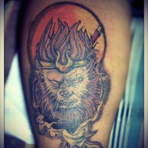 Sun Wukong. #tattoodoo #newbietattooartist #philippines #filipinotattooartist #axlledunatattoo