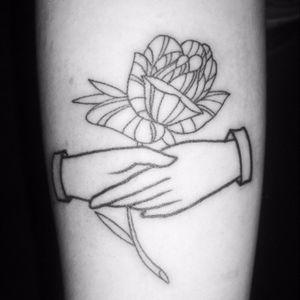 Friendship #linework #rose #hands #shake #fineline #simple #lines #bold