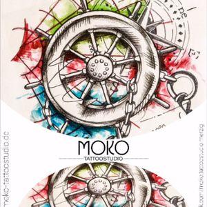 Vorlage für einen unserer Kunden aus der Schweiz. Danke an euch für das Vertrauen und die lange lange Anreise inkl Übernachtung. #watercolor #compass #ruder #kompass #boat #schiff #tattoo #vorlage #flash #drawing #sketch #moko #tattoostudio #merzig