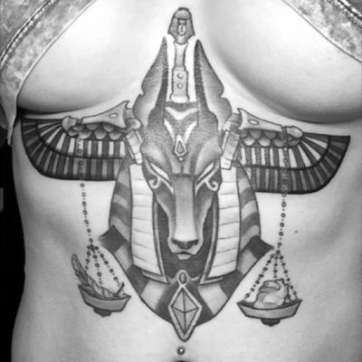 wings added, finished piece 💪🏼#healing #anubis #egyptian #god