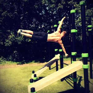 #workout #humanflag #amsterdam #streetworkout #exercise #flag