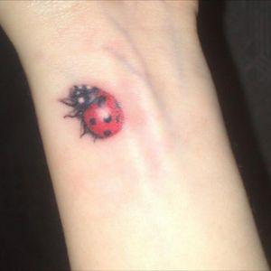 #firsttattoo #LadyBird #ladybug #ladybugtattoo #colour