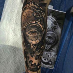 #eye #clock #sleeve