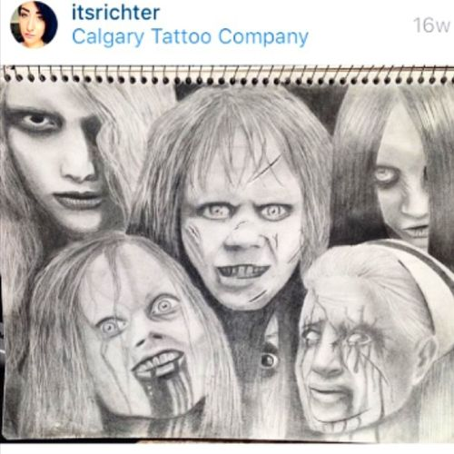 Did this when i furst started apprenticing #mechanical #pencildrawing #dark #evil #evildead #exorcist #thegrudge #thering #silenthill #karencooper #blackandgrey #tattooapprentice #drawing #realistic