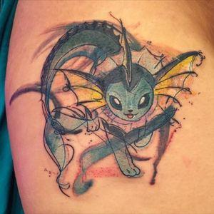 Vaporeon tattoo #water #pokemon