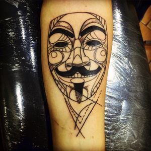 Ideas are bulletproof ! #guyfawkesmask #revolution #tattoo #IT