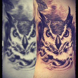#owltattoos #animaltattoos #blackandgreytattoo #tattoodoo #realism #animal #owls #blackandgrey