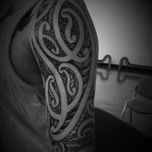 Shoulder #moko #maoritattoo #tamoko #fullsleevetattoo