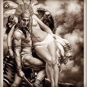 Beautiful aztec warrior and princess picture #dreamtattoo