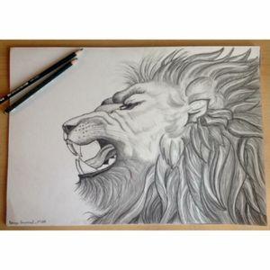 #lionhead #lion #lionking #animalhead #drawing