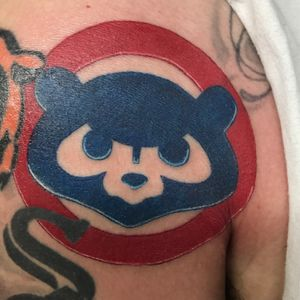 Cubs tattoo i did last week #cubs #cubstattoo #colortattoos #tattoos #chicagotattooartist #chicagotattooers