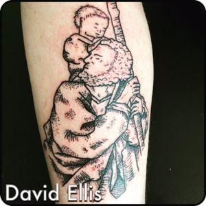 Saint Christopher #saintchristopher #lineworktattoo #tattoo #dotwork #linework #dotoworktattoo #ink #inked #tattoos #tattooed #dailypaint #dailytattoo #dailydraw #art #artist