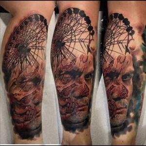 #drisdonallyuk #artiuminkuk #zombieboy #zombietattoo #horrorsleeve #1sitting