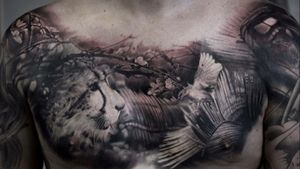 For more of my tattoos, check out www.instagram.com/bacanubogdan or www.Facebook.com/bacanu.bogdan.7 #BacanuBogdan #tattoooftheday #tattoo #blackandgrey #realism #realistic #tattooartist #sleeve #chesttattoo