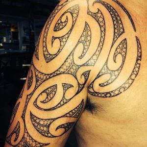 Maori shoulder piece #tamoko #maoristyles #maoritattoo #maoriAotearoa #maori
