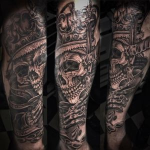 The start of my right arm sleeve, outer forearm completeD by Picton Tattoo artist Ryan Oliver
