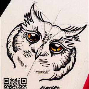 Eulen Tattoo noch zu haben. #owl #eule #tattoo #sketch #style #black #lining #abstract #moko #tattoostudio #merzig #saarland
