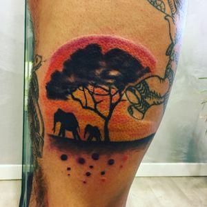 #elephant #tattoo #Tattoodo #inkmaster #ink #inked #color #tramonto #elephanttattoo #realism #portrait #family #worldfamousink