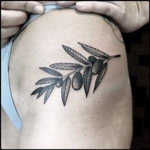 #black #olive #branch #tattoo #blackwork #totemica #ontheroad