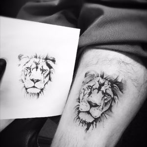 Lion head 🦁 #lion #lionhead #blackandgrey #shades