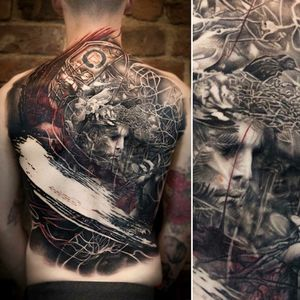 For more of my tattoos, check out www.instagram.com/bacanubogdan or www.Facebook.com/bacanu.bogdan.7 #BacanuBogdan #tattoooftheday #tattoo #blackandgrey #realism #realistic #tattooartist #backtattoo