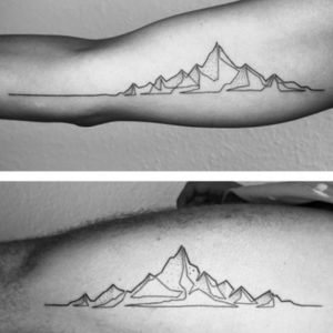 #mountain in #linework style. #simple but cool!