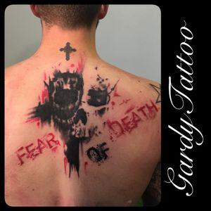 Cover up #trashpolka #Tattoo #fear #death #trashpolkatattoo #Black #red