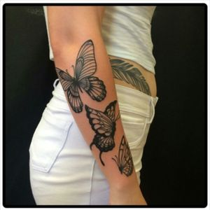 #blackandgrey #butterfly #Butterflies #butterflytattoo #armtattoo #forearm #forearmtattoo