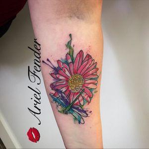 #watercolortattoo #watercolorartist #watercolorflower