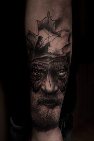 #realism #tattoooftheday #blackandgray #portrait #realistic