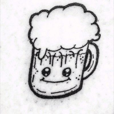 #kawaii #kawaiitattoo #manga #mangatattoo #food #foodtattoo #beer #beertattoo
