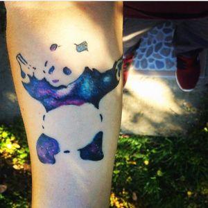 Healed one, a galactic bear, banksy's inspiration #beartattoo #WatercolorGalaxyTattoo #galaxytattoo #colortattoo