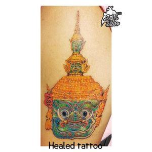 Healed Tod-Sa-Kan (Ravana) Tattoo #dskttattoo #thaitattoo #colortattoo
